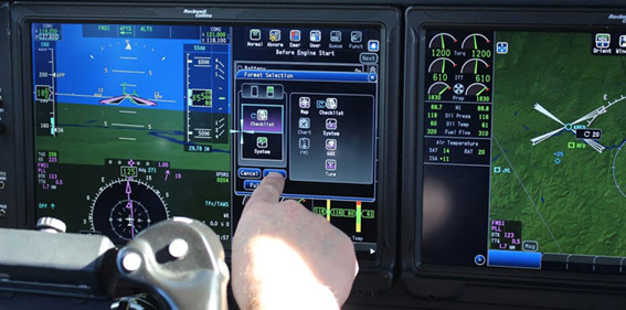 Touchscreen Avionics